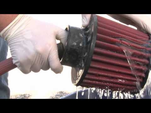 AEM Dryflow Air Filter Cleaning  YouTube