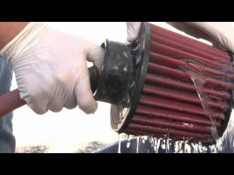 aem dryflow air filter cleaning -