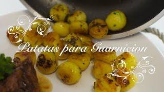 Patatas para Guarnicion ideales para acompañar carnes y pescados - Recetas faciles por Chefdemicasa
