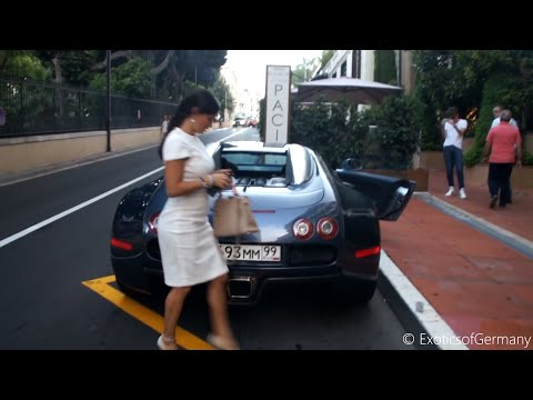 Sexy Girls driving Bugatti Veyron in Monaco!!