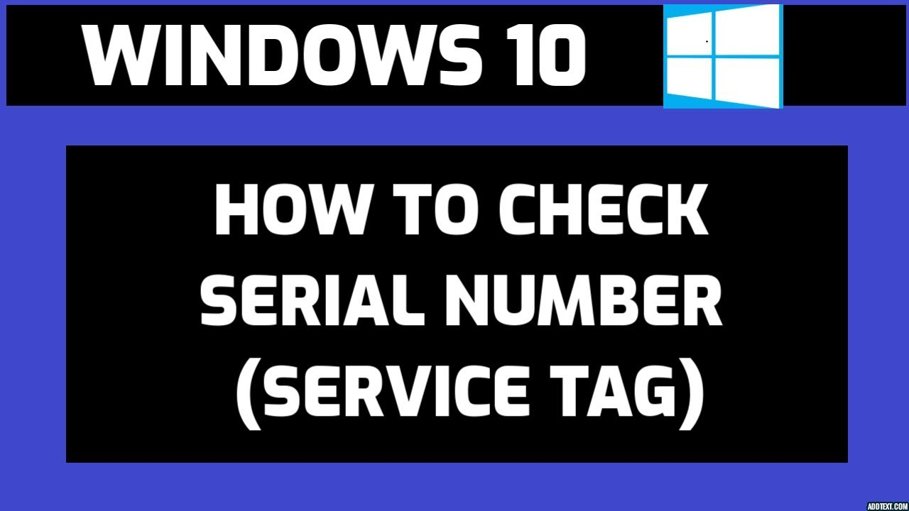 How to check Serial Number on Windows 10 - YouTube