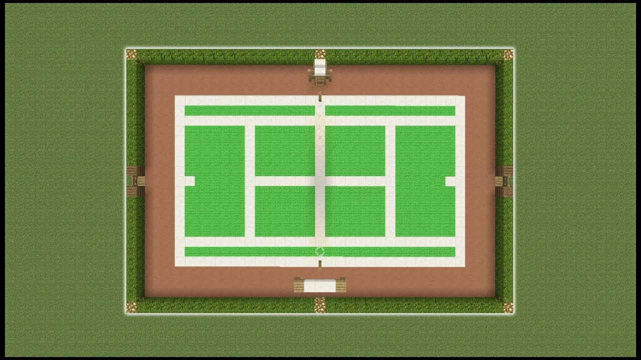 Minecraft Tutorial How To Make A Tennis Court Youtube