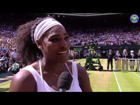 Champion Serena Williams' on-court interview