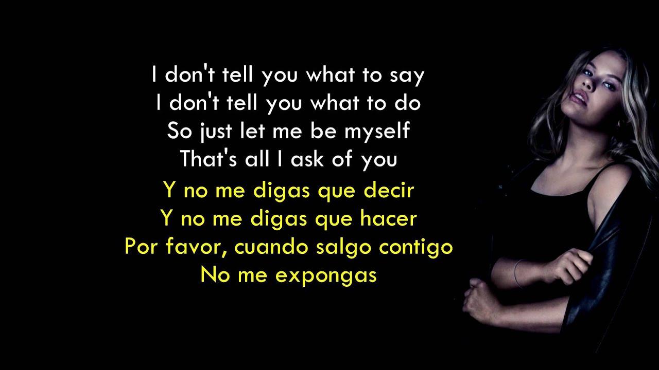 You don´t own me - Grace ft. G-Eazy (Lyrics English/Spanish) - YouTube