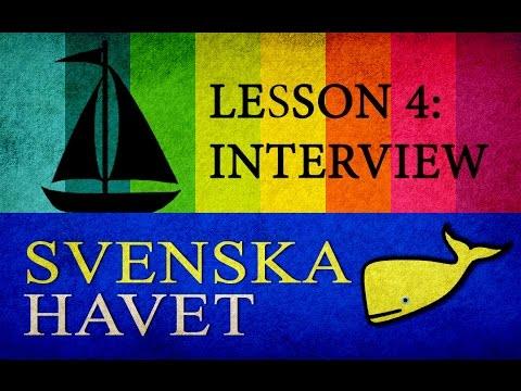 "Svenskahavet - Lesson 4. Basic conversation (""interview""). (Swedish lessons)"
