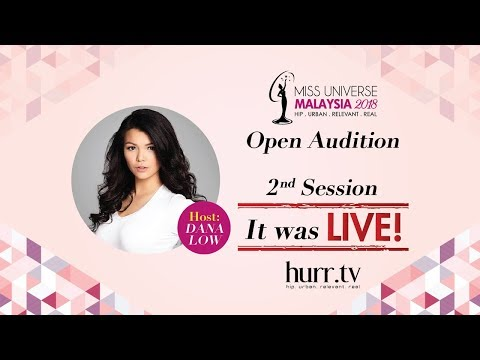 hurr.tv LIVE at Miss Universe Malaysia 2018 Audition 2