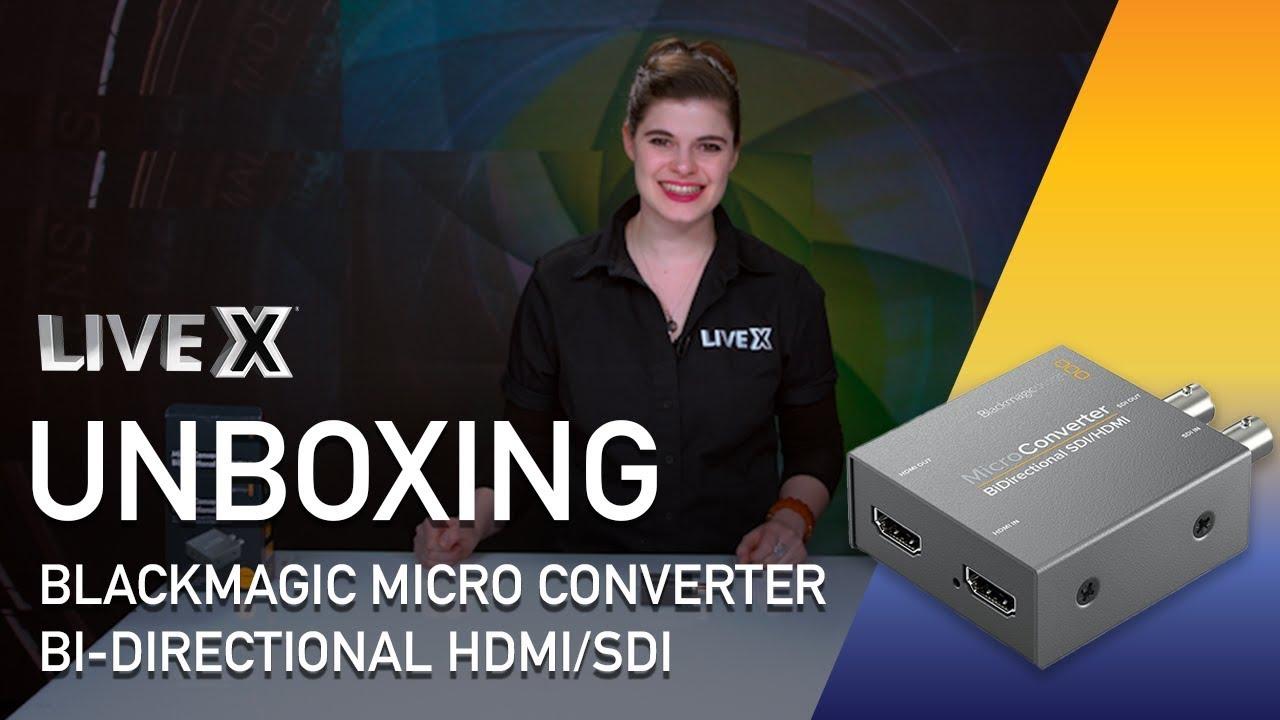 Unboxing Blackmagic Micro Converter Bi Directional Hdmi To Sdi Youtube