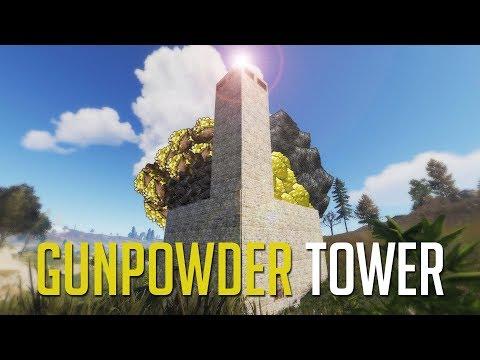 Rust | RAIDING A GUNPOWDER FACTORY TOWER