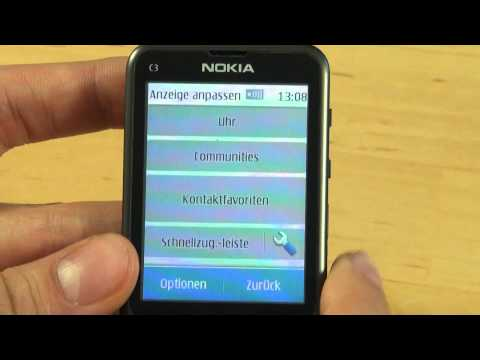 Nokia C3 Touch and Type Test Bedienung