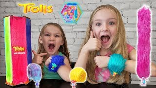 Opening New Trolls Hair Huggers Toys!! Poppy and Branch!