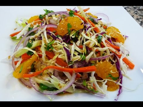 Easy Chinese Salad, cabbage salad, (how to cook chinese)