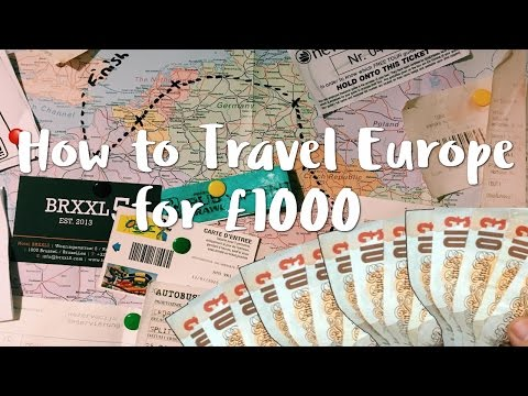 How to Travel Europe for £1000 - Interrail Budget tips