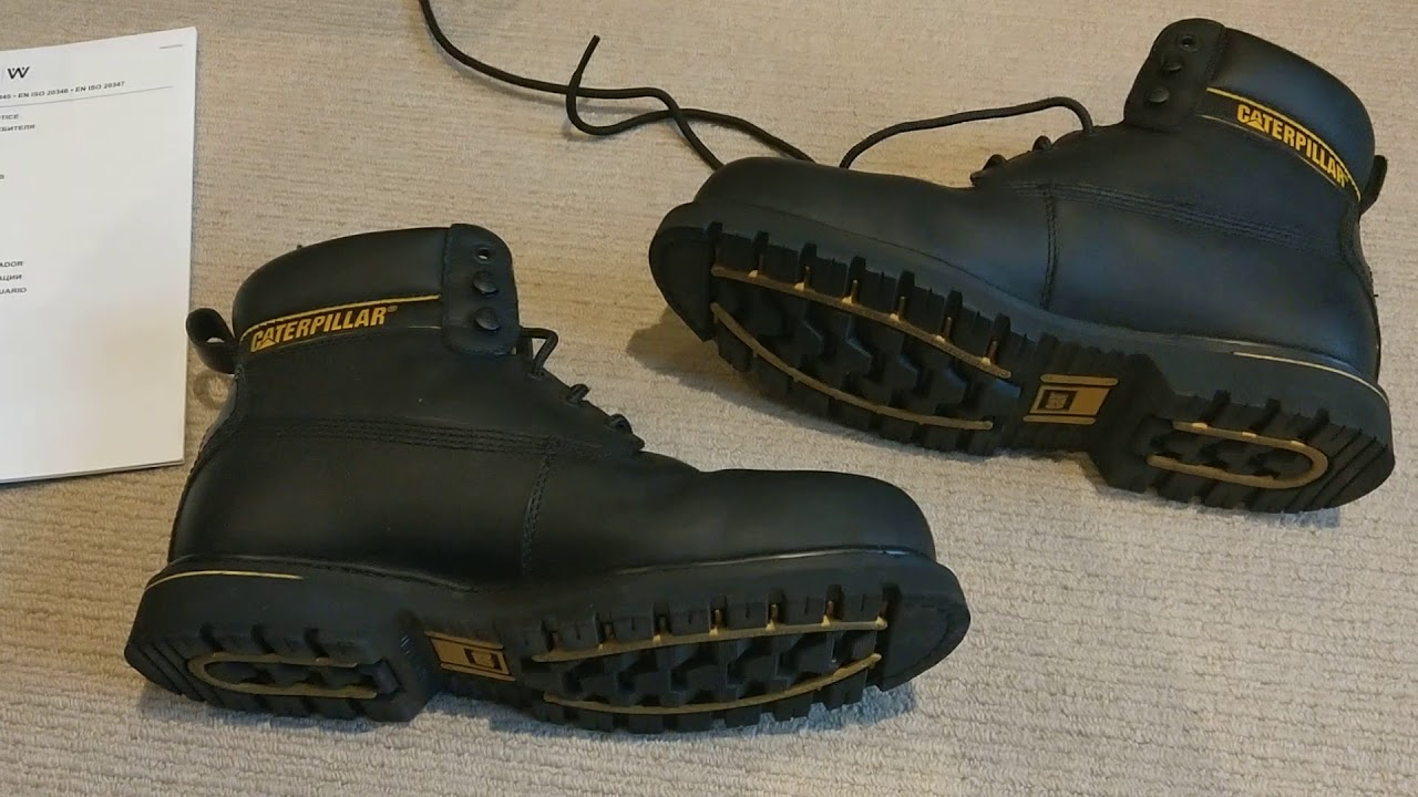 Boots Cat Holton Sb Work Safety Boots Black Youtube