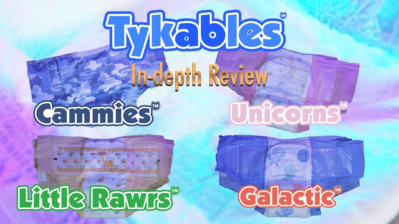 Tykables™ Collection #AdultDiaper In-Depth Review #Cammies #LittleRawrs #Galactic #Unicorns
