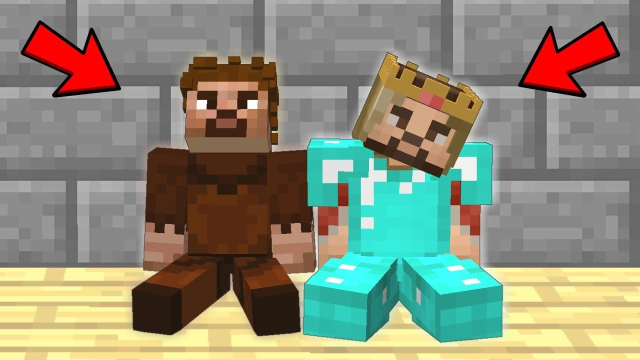 Fakir Ve Zengin Sirayla Oluyor Minecraft Youtube