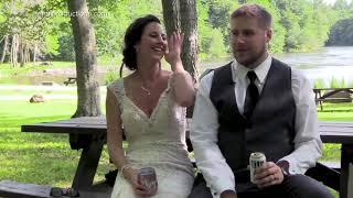 Wisconsin newlyweds narrowly escape tree branch