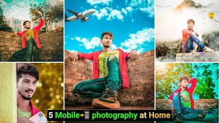 5 MOBILE 📲 PHOTOGRAPHY IDEAS at home (Quarantine) | Home photography ideas & vlog - ‎@Sanju Editing