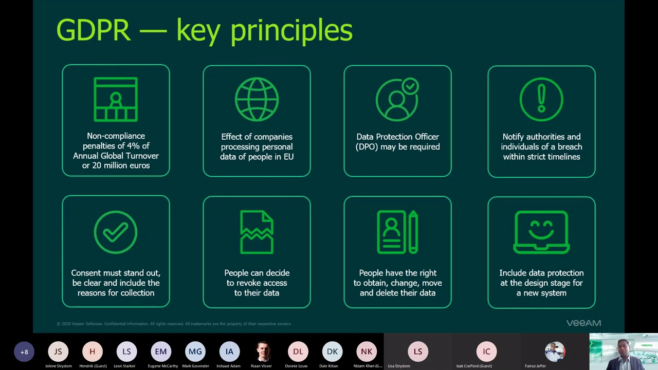 Veeam Data Security and Compliance Workshop   3rd November