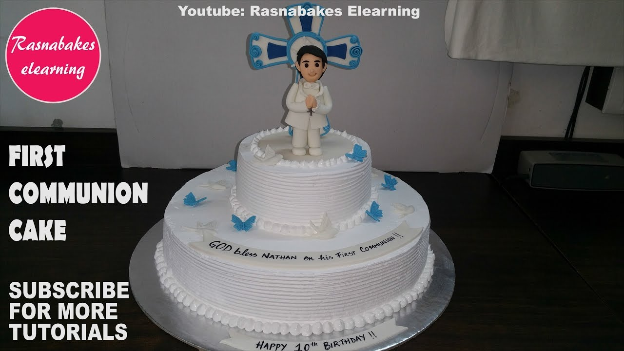 How To Make First Holy Communion Cakes For Boycake Decorating
