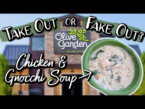 TAKE OUT or FAKE OUT | Olive Garden's Chicken & Gnocchi Soup | Side by Side At Home Recipe Compare