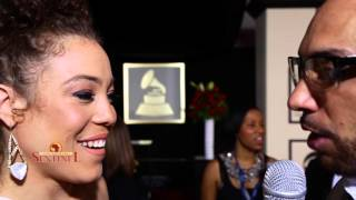 Kendra Foster at the 2016 Grammy