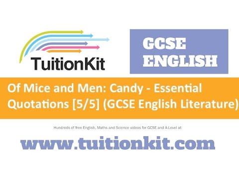 Of Mice And Men Candy  Essential Quotations  English  Of Mice And Men Candy  Essential Quotations  English Literature