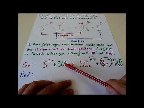 Redoxreaktionen in basisch wässriger Lösung (Einführung ...