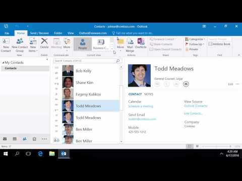 Find Duplicate Outlook Contacts