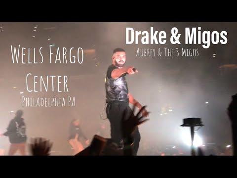 DRAKE & MIGOS Concert Well Fargo Center Philadelphia, PA