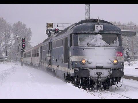 """Les Trains des """"Pointes"""" de l'hiver 2017 à Briançon en BB 67300 / BB 67400"""