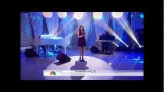 Alison Luff singing an amazing song on the Today Show on NBC
