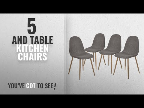 Top 10 And Table Kitchen Chairs [2018]: GreenForest Dining Side Chairs Strong Metal Legs Fabric