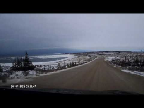Driving in Churchill, Manitoba