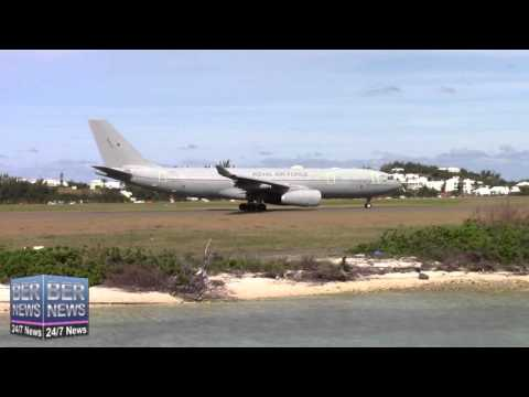 RAF Military Aircraft Depart Bermuda Airport, February 22 2016
