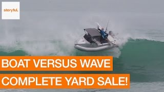 Surfers Caught Off Guard After Large Wave Flips Over Boat (Storyful, Crazy)