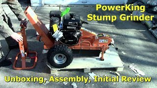 Power-King Stump Grinder Unboxing & Initial Impression by @Gettin JunkDone