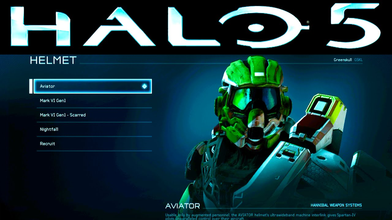 halo 5 beta unlocks day 1 aviator helmet cyan visor. Black Bedroom Furniture Sets. Home Design Ideas