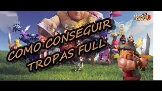 Tropas Full Qualquer Cv ? Clash Of Clan Dicas- Clash of Clans Ep#1