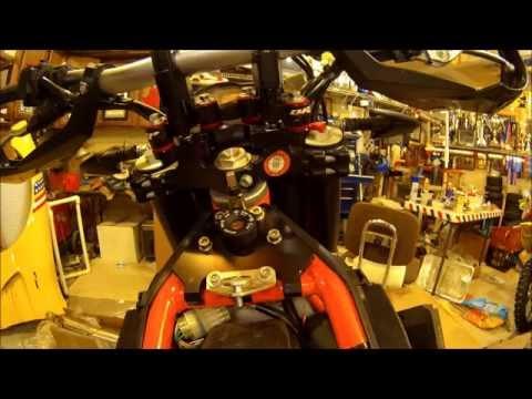 2015 KTM 690R Scotts Steering Stabilizer on BRP Shock Mounts