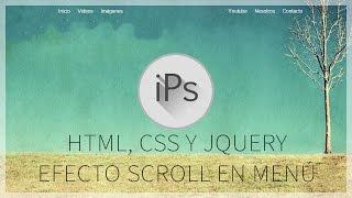 tutorial html, css y jquery | menu dinámico con efecto scroll