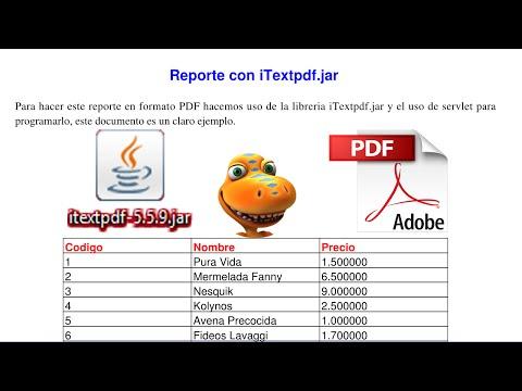 Reporte PDF con iTextpdf en paginas JSP, Servlet