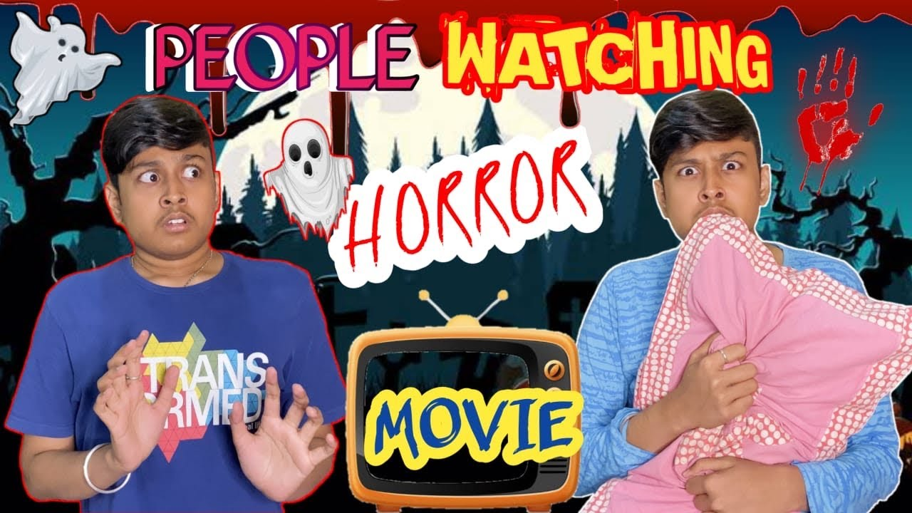 People Watching Horror Movies | Laugh With Harsh | Comedy Video