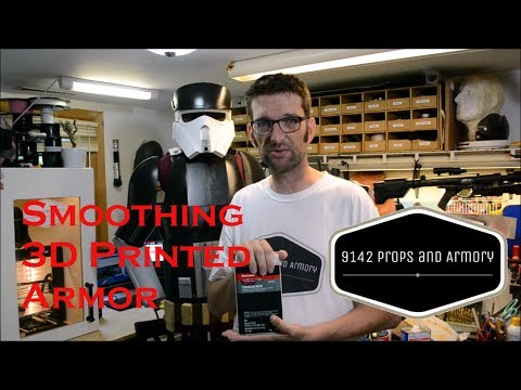 Smoothing 3D Printed Armor for Paint