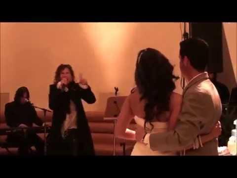 Steven Tyler singing at Jason Swing wedding