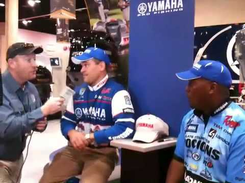 Yamaha pros Dave Wolak and Ish Monroe with Fish Fishburn