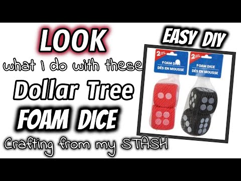 LOOK What I Do With These Dollar Tree FOAM DICE | EASY Crafting From My STASH DIY