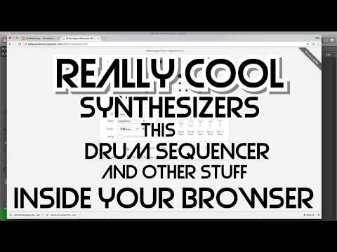 Free Synthesizers and More in your Browser!