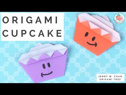 Origami Cupcake Tutorial - How to Fold an Origami Cupcake - Paper Crafts Resource for Teachers