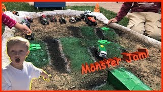 Awesome Toy Monster Truck Arena | RC Trucks Included!