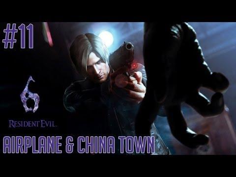 "Resident Evil 6 (PC) - Part 11 [LEON] ""Airplane & China Town"" Walkthrough Gameplay"